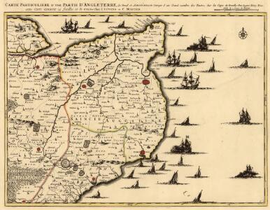 Carte Particulière D'Une Partie D'Angleterre. Sur la Copie de Bruxelles Chez Eugène Henry Friex