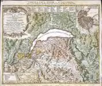 Novissima totius Lavsonii sive Lemani lacvs cum regionibus circumjacentibus chorographica repraesentatio