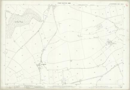 Gloucestershire LXXIII.15 (includes: Cold Ashton; Doynton; Dyrham and Hinton; Marshfield) - 25 Inch Map