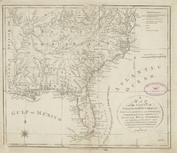 A map of the states of Virginia, North Carolina, South Carolina and Georgia : comprehending the Spanish provinces of east and west Florida : exhibiting the boundaries as fixed by the late treaty of peace between the United States and the Spanish dominions