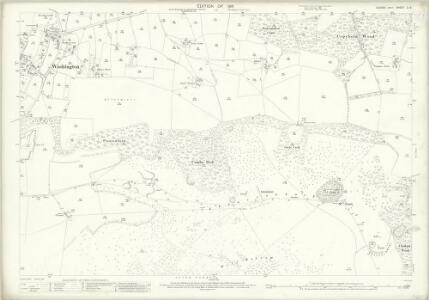 Sussex LI.6 (includes: Findon; Washington; Wiston) - 25 Inch Map