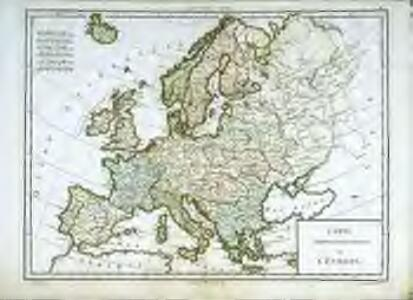 Carte générale et politique de l'Europe
