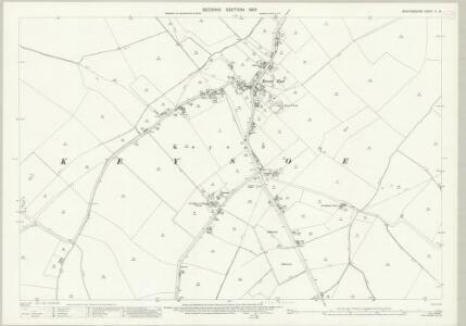 Bedfordshire V.13 (includes: Bolnhurst and Keysoe; Little Staughton) - 25 Inch Map