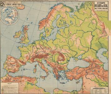 Europe relief du sol