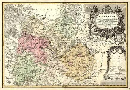 Principatvs Silesiae in suos circulos, tres nempe Lignicenses Goldbergensem, Haynavviensem et Lvbenensem divisii