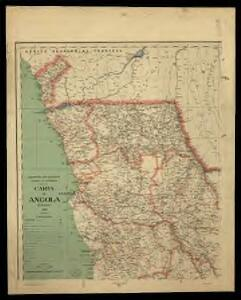 Carte de Angola: esboço / Ministerio das Colonias, Comissâo de Cartografia