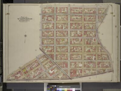 Brooklyn, Vol. 3, Double Page Plate No. 4; Part of    Wards 16 & 19, Sections 8 & 10; [Map bounded by Montrose Ave., Bushwick Ave.,    Flushing Ave.; Including Gerry St., Broadway, Leonard St.]