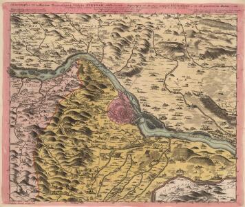 Chorographia VI. milliarium Regionis circa Vrbem Viennam Austriacam, deprompta ex mappa majori Vischeriana et ad praesentem statum, uti Dominium minus eminens A. 1754.