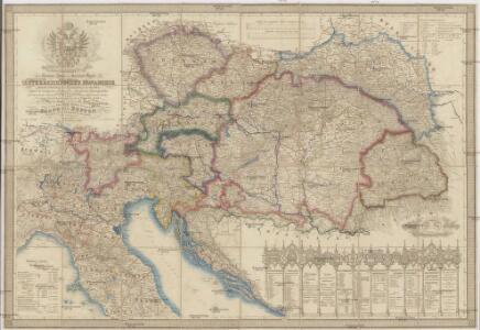 Neueste General- Post-und Strassen Karte der Oesterreichischen Monarchie