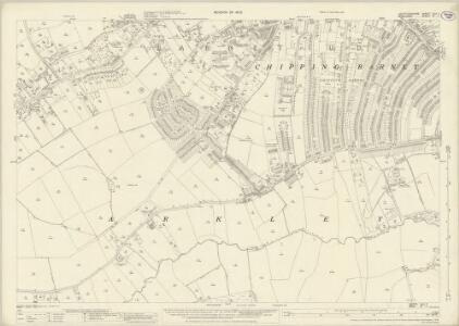 Hertfordshire XLV.7 (includes: Arkley; Chipping Barnet; Rowley; South Mimms; Totteridge) - 25 Inch Map