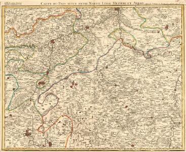 Carte Contenant le Pais entre Namur, Liege, Meziere te Arlon