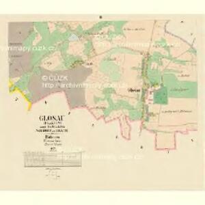 Glosau (Dlaždow) - c1127-1-002 - Kaiserpflichtexemplar der Landkarten des stabilen Katasters
