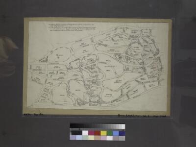 Miniature map of the property of Delafields Estate. Bounded by Riverdale Avenue, Mosholu Avenue, W. 53rd Street, Broadway, W. 238th Street, Spuyten Duyvil, W. 236th Street and Fieldston Road.