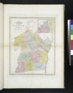 Map of the counties of Albany and Schenectady / by David H. Burr ; engd. by Rawdon, Clark & Co., Albany, & Rawdon, Wright & Co., N.Y.