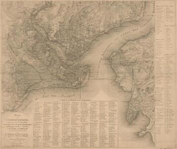Plan von Constantinopel und seinen Vorstädten diesseits und jenseits des Bosporos