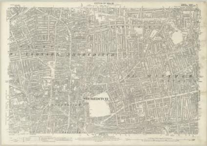 London (Edition of 1894-96) LI (includes: Bethnal Green; Shoreditch; Stepney) - 25 Inch Map