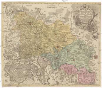 Nova mappa geographica totius ducatus Silesiae tam superioris quam inferioris exhibens XVII. minores principatus et VI. libera dominia