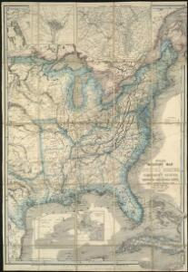 Wyld's military map of the United States, the northern states, and the southern Confederate states, with the forts, harbours, arsenals, and military positions
