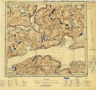Norway 1:100,000 , Series GSGS 4090, Ofoten