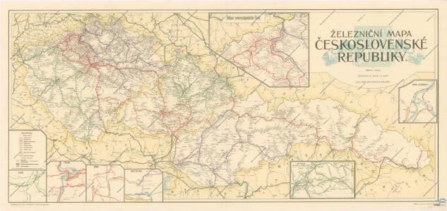 Zeleznicni Mapa Ceskoslovenske Republiky