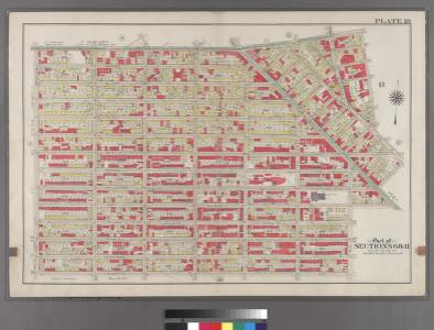 Plate 18: [Bounded by Flushing Avenue, Bremen Street, Bushwick Avenue, Willoughby Avenue, Broadway, Hart Street, Stuyvesant Avenue, Lafayette Avenue and Nostrand Avenue.]