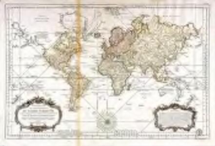 Carte reduite des parties connues du globe terrestre