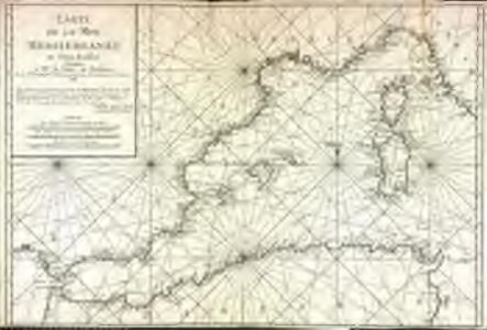 Carte de la mer Mediterranée, 1