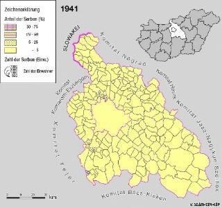 Serben im Komitat Pest 1941
