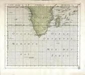 Carte marine de l'Afrique meridionale