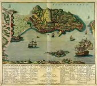 Vuë de la montagne de Gibraltar et de la ligne espagnole