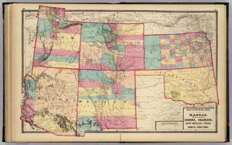 Kansas, and Arizona, Colorado, New Mexico, Utah, and Indian Territory.