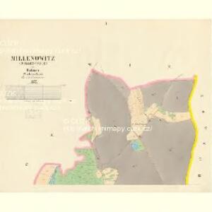 Millenowitz (Millenowice) - c4648-1-001 - Kaiserpflichtexemplar der Landkarten des stabilen Katasters