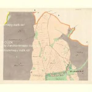 Mautzendorf (Motkow) - m1906-1-002 - Kaiserpflichtexemplar der Landkarten des stabilen Katasters
