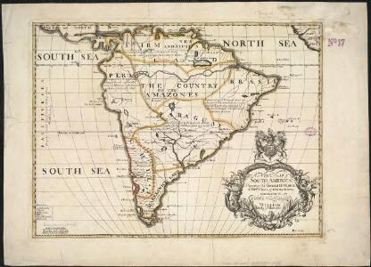 A new map of South America, shewing it's general divisions, chief cities & towns, rivers, mountains &c.