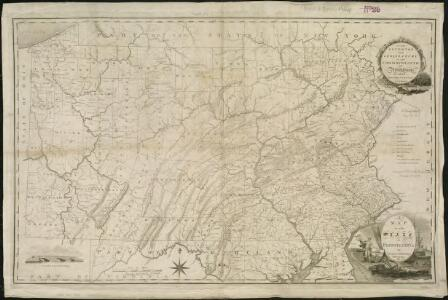 A map of the state of Pennsylvania