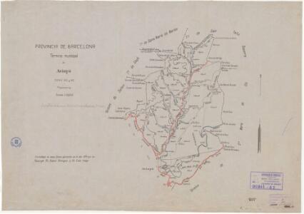 Mapa planimètric d'Avinyó