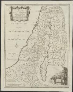 't Land Kanaan benevens Gilead verdeelt onder de XII stammen Israëls waar in de gelegendheid en uitgestrektheid van ieder erfdeel word aangewezen
