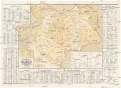 Übersichts-Karte der Dislocation des k.u.k. österr[eichischen] ung[arischen] Heeres und der Landwehren
