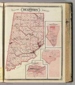 Map of Dearborn County (with) Greendale, Moore's Hill, Cochran.