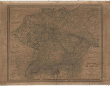 Special-karte von Deutschland: nebst einem Theile der angrenzenden Länder mit Gesonderer Berücksichtigung der Gebirge und Gewässer