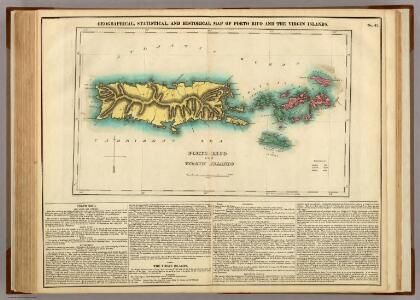 Map Of Porto Rico And The Virgin Islands.