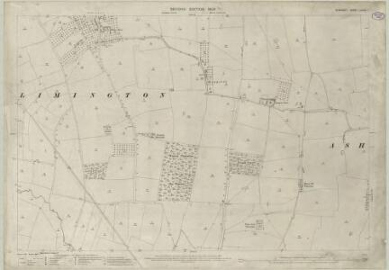 Somerset LXXXIII.1 (includes: Chilthorne Domer; Chilton Cantelo; Limington) - 25 Inch Map