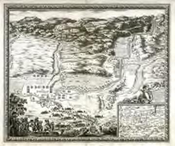 Plan de la ville et chasteau de Balagvier en Catalogne