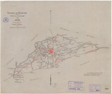 Mapa planimètric del terme municipal d'Artés