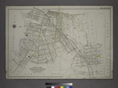 [Plate 45: Bounded by Horton Place, Remsen Avenue, Central Avenue, (Inlet, Atlantic Ocean), John Street, Bay Avenue, Rochester Avenue, Spray View Avenue, Neptune Avenue, Boulevard, Channel Avenue, Ocean Avenue, Cornaga Avenue, Healey Avenue, Bayview Aven
