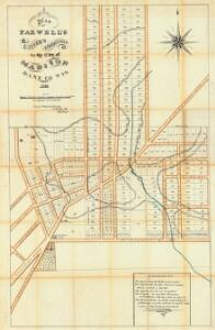 Plan of Farwell's eastern addition to the city of Madison, Dane Co., Wis., 1856