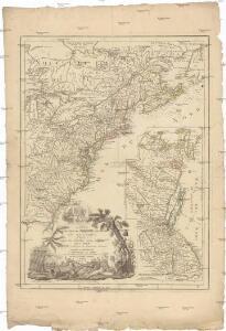Carte du theatre de la guerre présente en Amerique