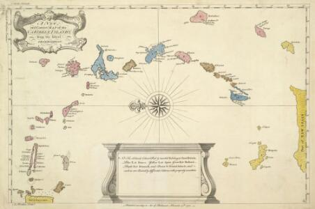 A New And Correct Map Of The Caribbean Islands From The Latest Observations