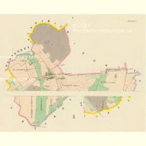 Glosau (Dlaždow) - c1127-1-001 - Kaiserpflichtexemplar der Landkarten des stabilen Katasters