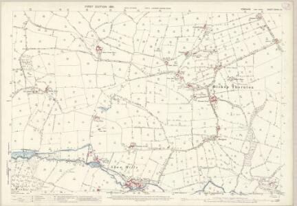 Yorkshire CXXXVI.12 (includes: Bishop Thornton; Hartwith Cum Winsley) - 25 Inch Map
